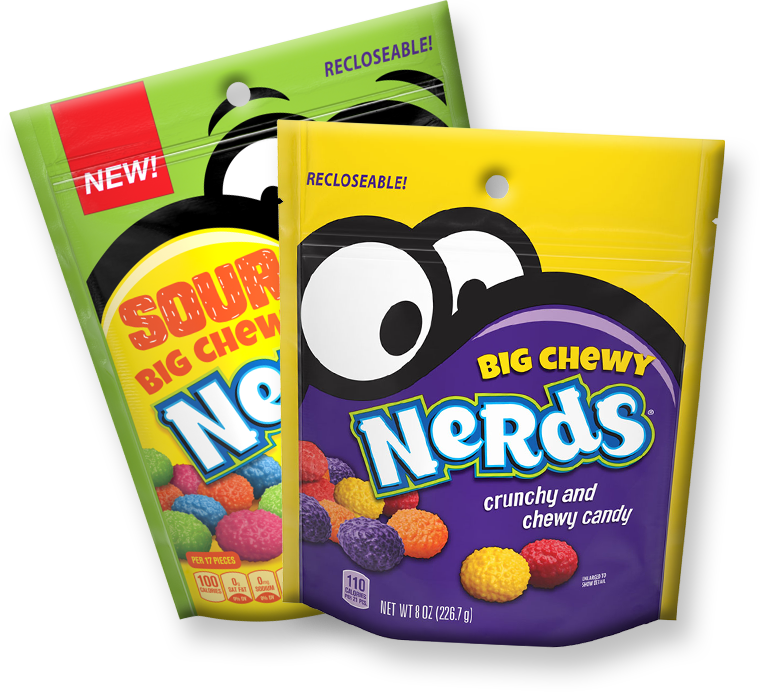 Big Chewy NERDS and Sour Big Chewy NERDS Packaging
