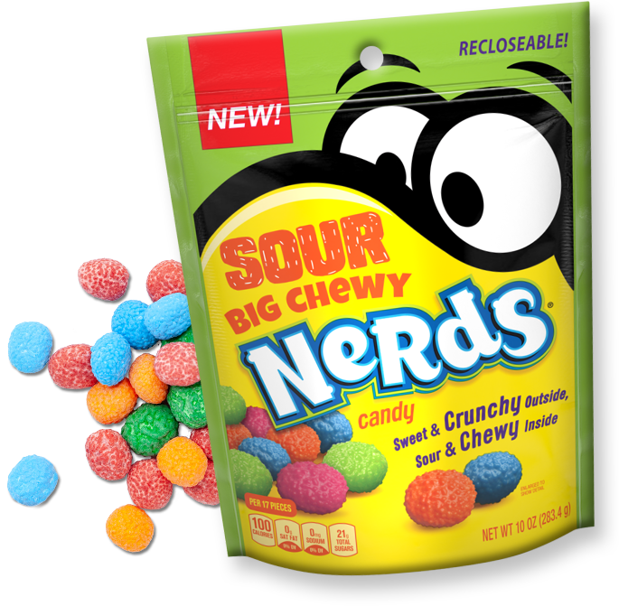 Sour Big Chewy NERDS Candy Packaging